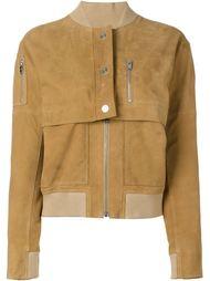 замшевая куртка-бомбер Courrèges