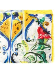 шарф с принтом 'Majolica' Dolce & Gabbana
