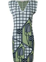 v-neck knit dress Gig