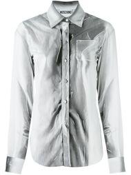 "рубашка с эффектом ""тромплей"" Moschino"