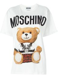 футболка с принтом-логотипом Moschino