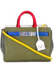 сумка-тоут дизайна колор-блок Moschino
