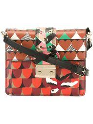 сумка через плечо с геометрическим принтом Red Valentino