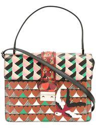 сумка-сэтчел с геометрическим принтом Red Valentino
