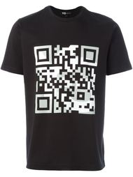 футболка с принтом QR кода Y-3