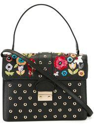 сумка-сэтчел с цветочной вышивкой Red Valentino