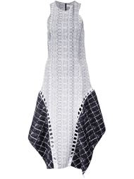 asymmetric hem panelled dress Jonathan Simkhai