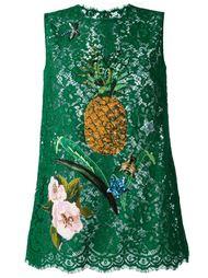 кружевной топ с пайетками  Dolce & Gabbana