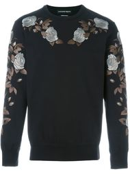 rose embroidered sweatshirt Alexander McQueen