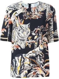 блузка с принтом котов Stella McCartney