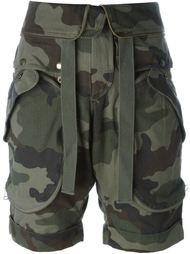 шорты с камуфляжным принтом Faith Connexion