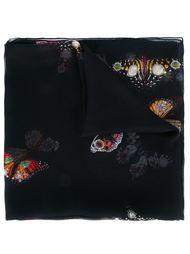 шарф с принтом бабочек Alexander McQueen