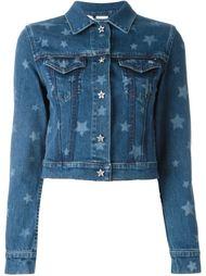 джинсовая куртка с принтом звезд Valentino