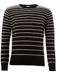 striped crew neck sweater Saint Laurent