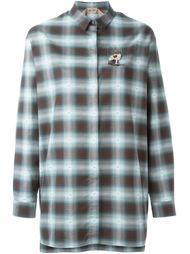 декорированная  рубашка в клетку  Nº21