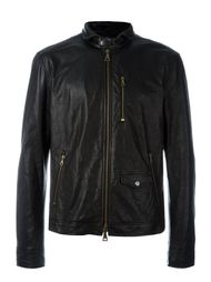 zipped leather jacket John Varvatos