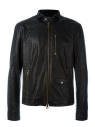 zipped leather jacket John Varvatos