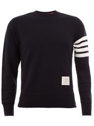 striped sleeve detail sweatshirt Thom Browne