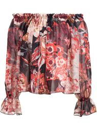 floral print off shoulder blouse Elizabeth And James
