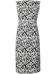 floral print fitted dress Paule Ka