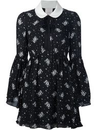 contrasting collar floral print dress Cinq A Sept