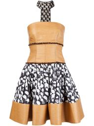 printed raffia bustier dress Sophie Theallet