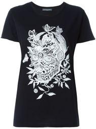 футболка с цветочным принтом  черепа Alexander McQueen
