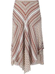 драпированная юбка с цветочным принтом  Derek Lam 10 Crosby