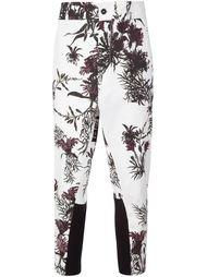 брюки с цветочным узором Ann Demeulemeester
