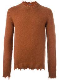 свитер с рваными деталями   Etro