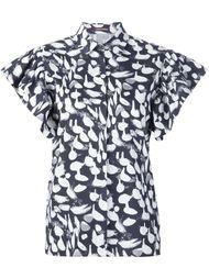 animal print ruffle sleeve shirt Sophie Theallet