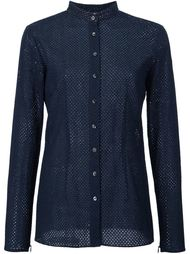 perforated manadarin collar shirt Sophie Theallet