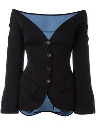 приталенный пиджак с открытыми плечами Antonio Berardi