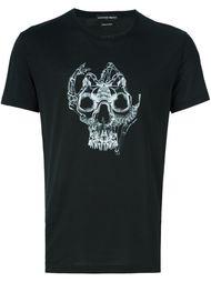 футболка с принтом skull bones  Alexander McQueen