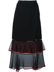 прозрачная юбка с баской Jonathan Simkhai