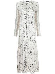 платье миди с пятнистым принтом Calvin Klein Collection