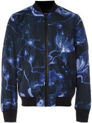 куртка-бомбер с цветочным принтом   Diesel