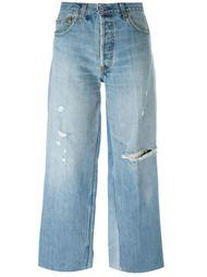 укороченные джинсы с прорезами Re/Done