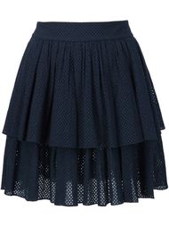 shirred eyelet layered skirt Sophie Theallet