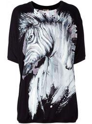 футболка с принтом зебры Roberto Cavalli