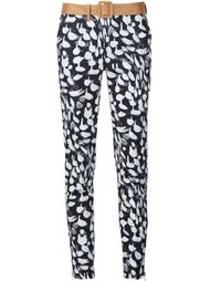 animal print slim-fit trousers Sophie Theallet