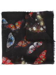 платок с узором в виде бабочек Alexander McQueen