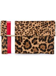 striped leopard print clutch Tomasini
