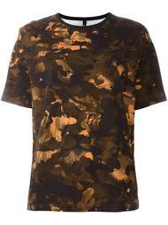 футболка с камуфляжным принтом  Versus