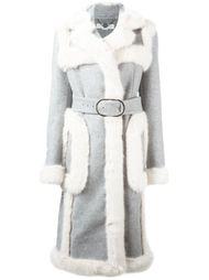 пальто с меховой отделкой  Stella McCartney