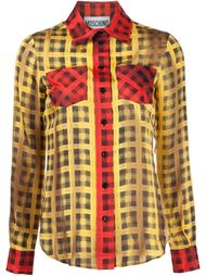plaid shirt Moschino