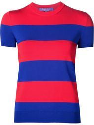 striped knitted T-shirt Ralph Lauren Black