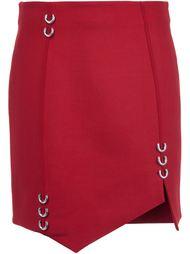 асимметричная юбка с украшением в виде пирсинга Mugler