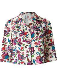crop floral blazer Reinaldo Lourenço