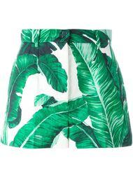 шорты с банановыми листьями Dolce & Gabbana